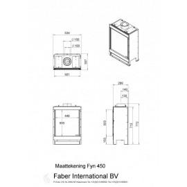Газовый камин Faber Fyn 450