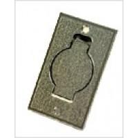 Пневморозетка напольная металлическая (хром)