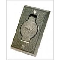 Пневморозетка настенная металлическая BEAM (хром)