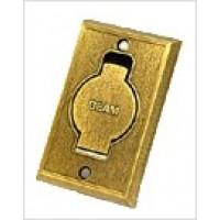 Пневморозетка настенная металлическая BEAM (бронза)
